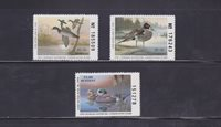 State Hunting/Fishing Revenues - LA - 1991-93 Duck Stamps - 3 Different - MNH