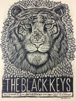 The Black Keys - 2014 Dan Grzeca Poster Chicago, IL United Center