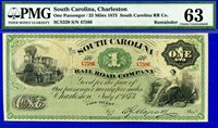 -1873 $1 South Carolina, Charleston (( SCS320 )) PMG Choice-UNC 63 # 47586