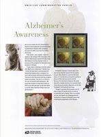 #827 42c Alzheimer's Awareness #4358 USPS Commemorative Stamp Panel