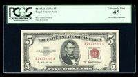 DBR 1953-A $5 Legal Fr. 1533 BA Block PCGS 45 Serial B24339389A