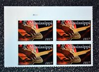 2017USA #5190 Forever - Mississippi Statehood - Plate Block of 4 - Mint NH