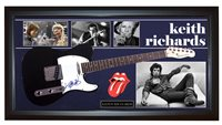 Keith Richards Rolling Stones Signed Guitar + Display Shadowbox Case PSA AFTAL