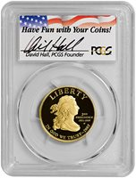 2007-W Gold $10 Jefferson's Liberty (PCGS-PR70DCAM - First Strike) [David Hall Autographed Label]