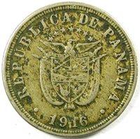 1916 Panama 2 1/2 Centesimios Km# 7.2 A Very Nice Coin Mintage - 800,000