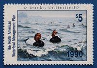 U.S. (NAWM02) 1990 Ducks Unltd North American Waterfowl Mgmt Plan Stamp (MNH)