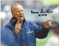 BARRY SWITZER Signed 8 x 10 Photo DALLAS COWBOYS Football Coach FREE SHIPPING