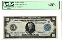 1914 $10 St. Louis Federal Reserve Bank Note Fr. 934, PCGS Very Fine 30PPQ Y4234