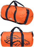 NFL Denver Broncos Vessel Barrel Duffle Gym Bag