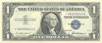 Fr No.1619* 1957 Silver Certificate $1 Very well centered within large uniform margins front and reverse; bright and full tactile characteristic present--EPQ, as the graders say Gem CU