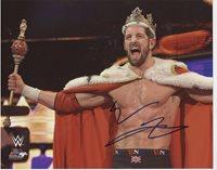 KING WADE BARRETT WWE SIGNED 8x10 PHOTOFILE PHOTO AUTOGRAPH w/ COA