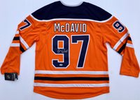 CONNOR MCDAVID #97 EDMONTON OILERS SIGNED HOCKEY FANATICS JERSEY PSA/DNA