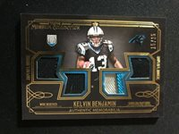 2014 Museum Collection Kelvin Benjamin Rc Quad Game Used Jersey Panthers #15/25