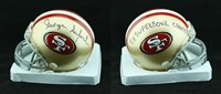 George Seifert SIGNED San Francisco 49ers Mini Helmet PSA/DNA AUTOGRAPHED