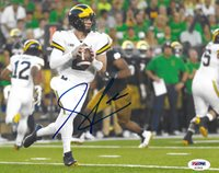 PSA/DNA Michigan #2 SHEA PATTERSON Signed Autographed 8x10 Football Photo GOBLUE