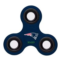 NFL New England Patriots Three Way Fidget Hand Spinner- IN STOCK
