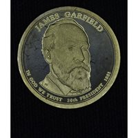 $1 One Dollar 2011 S Pres. PR66 J. Garfield brilliant