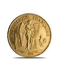 French Gold Angel 20 Franc AGW .1867 oz - Almost Uncirculated (Random Year)