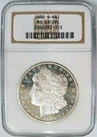 1880 S Silver Morgan Dollar NGC MS 63 DMPL Deep Mirrors PL DPL Mirrors Coin