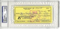 Eddie Arcaro SIGNED PERSONAL CHECK Triple Crown Jockey (DEC) AUTOGRAPHED - PSA/DNA Certified - Autographed Products