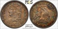 1833 H10C Capped Bust Half Dime PCGS AU 58 About Uncirculated Toned Reverse