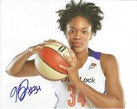 KRYSTAL THOMAS Signed 8 x 10 Photo WNBA Basketball WASHINGTON MYSTICS Storm DUKE