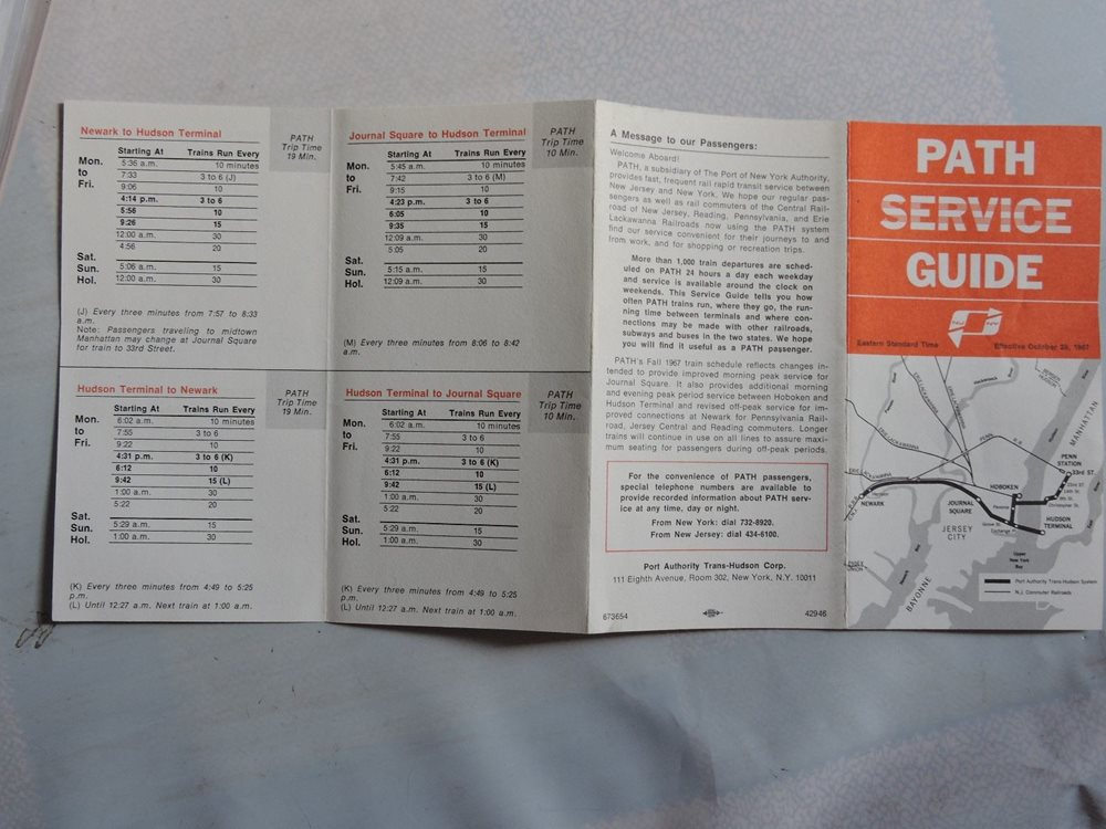 2 ORIG PATH Service Guide NY New York New Jersey transit railroad map  timetable