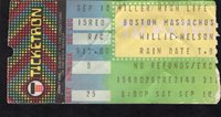 1983 Willie Nelson Concert Ticket Stub Boston MA