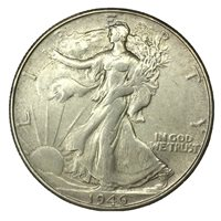 1946-S 50C Walking Liberty Half Dollar AU+ Uncertified #
