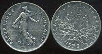 FRANCE 5 francs 1993 SEMEUSE ( etat )
