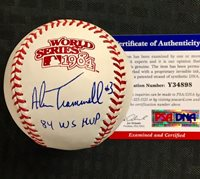 "ALAN TRAMMELL Tigers ""84 WS MVP"" Signed 1984 World Series Baseball ~ PSA/DNA COA"