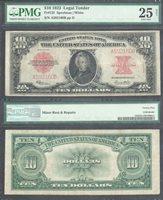 $10 1923 Fr.123=LEGAL TENDER=POKER CHIP=SPEELMAN-WHITE=PMG VERY FINE 25
