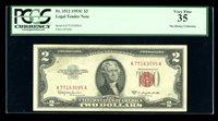 DBR 1953-C $2 Legal Fr. 1512 PCGS 35 Serial A77163095A