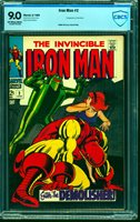 Iron Man #2 CBCS VF/NM 9.0 Off White to White Marvel Comics Comic Book