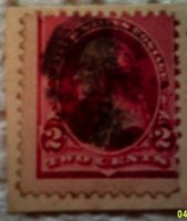 1890 Scott 220 U. S. George Washington one used and cancelled two cent stamp