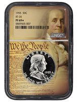 1955 FRANKLIN NGC PF 69 STAR- We The People