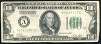 FR. 2151-A 1928-A $100 FRN FEDERAL RESERVE NOTE BOSTON, MA ABOUT UNC