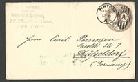 DATED 1895 COVER NY 5c COLUMBIAN #350 TO GERMANY