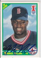 Mo Vaughn,1990 Score (Red Sox), On Card Autograph!!!