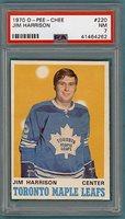 1970 O-Pee-Chee Jim Harrison – #194 PSA 7! Maple Leafs!