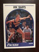 1989-90 Hoops #37 - Rik Smits (RC) - Indiana Pacers