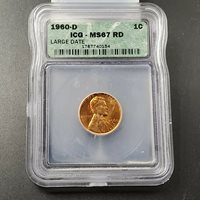 1960 D Lincoln Memorial Cent Penny Coin ICG MS67 Gem BU BUsiness Strike Denver 4