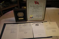 Crossville, TN., Cumberland County, TN., JOE M. GOODWIN, 8 HONORARY CERTIFICATES