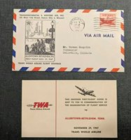 1947 Bethlehem PA First Flight Cover to Belleville IL with Insert