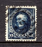 Scott # 274, used, VF, 15¢ Henry Clay, 1895, Ellipse Cancel, Gorgeous Color!
