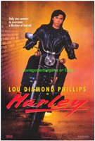3 LOU DIAMOND PHILLIPS MOVIE POSTER 27x40 ORIGINALS HARLEY - RENEGADES- LA BAMBA