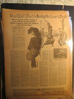Women History Newspaper 191? PEARL ODELL TRIED FOR BEATING LOVER TO DEATH