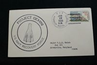 NAVAL SPACE COVER 1965 GEMINI GT-2 RCVRY SHIP USS FORREST ROYAL (DD-872) (6857)