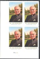 SC#5241 - Forever Father Theodore Hesburgh Plate Block of 4 MNH P#P11111 LL