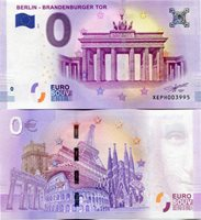 2018 BERLIN Brandenburg Gate Tor Germany 0 Euro Souvenir Banknote Just Released